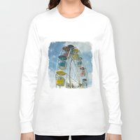 ferris wheel Long Sleeve T-shirts featuring Ferris Wheel by Mary Kilbreath