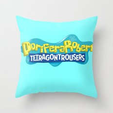 PoriferaRobert TetragonTrousers Throw Pillow