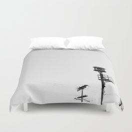 Air Raid Siren In Los Angeles Duvet Cover