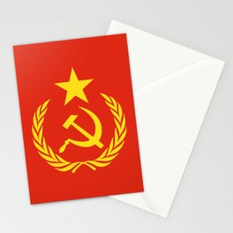 Russian Communist Flag Hammer & Sickle Stationery Cards