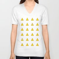 illuminati V-neck T-shirts featuring Illuminati by BatNeko