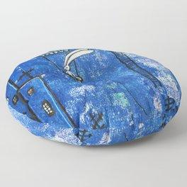 Superbunny on night duty Floor Pillow