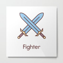 Cute Dungeons and Dragons Fighter class Metal Print