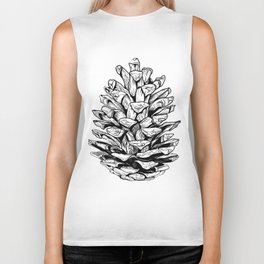 Pine cone illustration Biker Tank