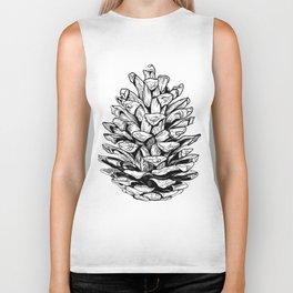 Pine cone illustration Biker Tank