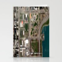 chicago map Stationery Cards featuring Chicago by Mark John Grant