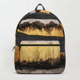 Golden Ocean Waves #1 #abstract #painting #decor #art #society6 Backpack