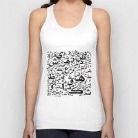 letters Tank Tops featuring Arabian Letters  by Adel