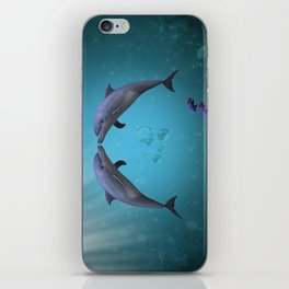 dolphins love iPhone Skin
