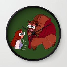 Keep Calm: Belle & Beast Wall Clock