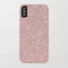 Trendy girly blush pink modern abstract glam glitter iPhone Case