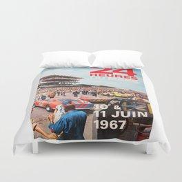 Le Mans 1967, 24hs Le Mans, 1967, original vintage poster Duvet Cover