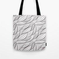 stark Tote Bags featuring Stark Waves by SonyaDeHart