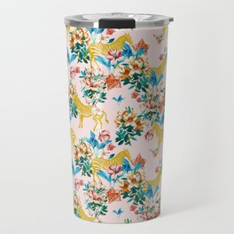 Floral & Zebras Travel Mug