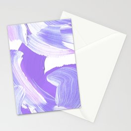 Shades of Purple Brush Stroke pattern #abstractart Stationery Cards