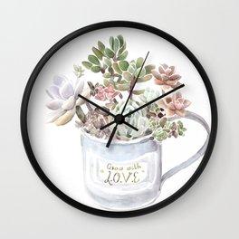 Grow with Love Wall Clock