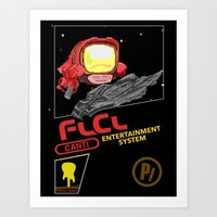 flcl Art Prints featuring NES FLCL by IF ONLY