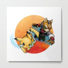 Quick Attack Metal Print