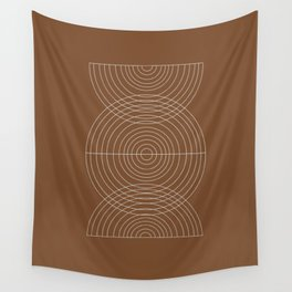 Burnt Orange, Geometric shape Wall Tapestry