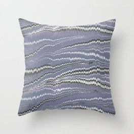 Electrified Ripples Lavender Throw Pillow