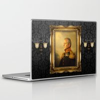 floral pattern Laptop & iPad Skins featuring Bill Murray - replaceface by replaceface