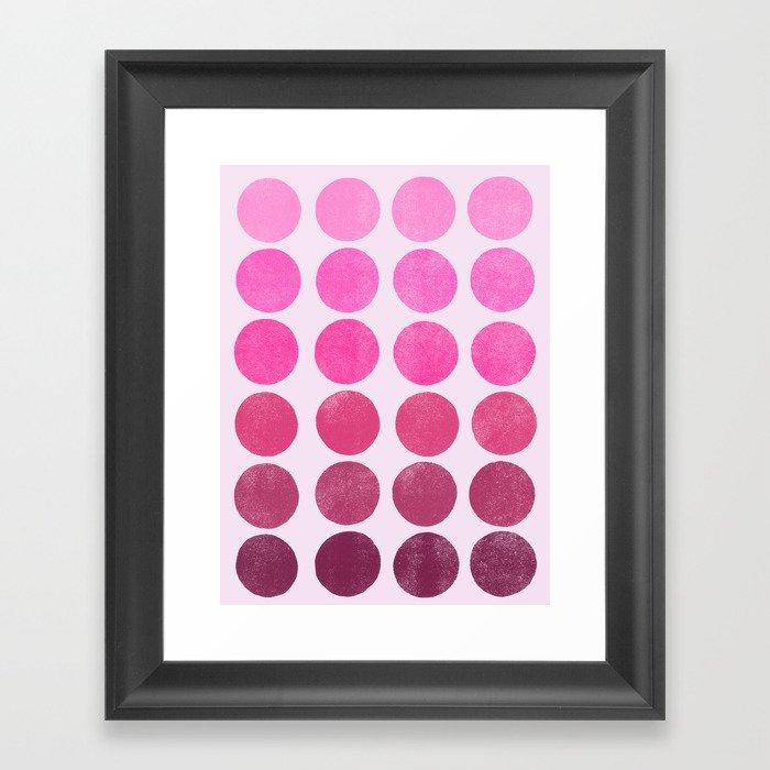 Color Play Pink Framed Art Print