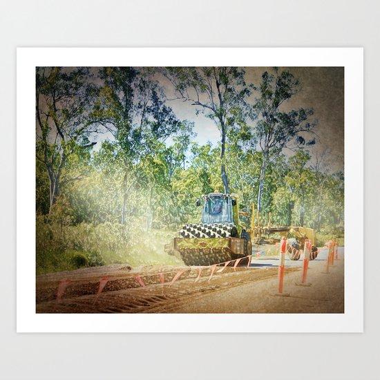 Heavy Industry Roadwork Roller Art Print