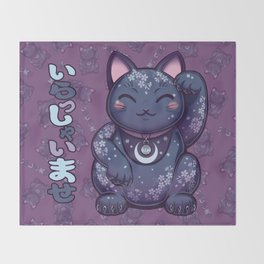 Hanami Maneki Neko: Ren Throw Blanket