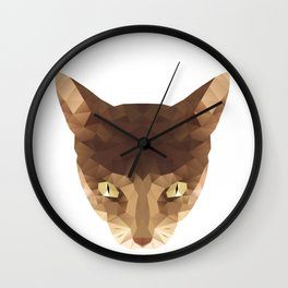 triangular cat Wall Clock