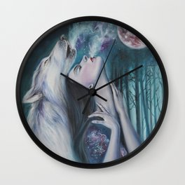 Moon Howl Wall Clock