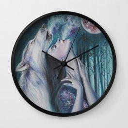 Moon Howl Wall Clock