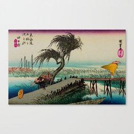 Yokkaichi - Vintage Japanesse Ukiyo e Art Canvas Print