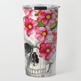 Skeleton Head Travel Mug