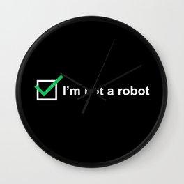 I'm not a robot Wall Clock