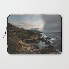 Bixby Bridge - Fog Rolls into Big Sur California Laptop Sleeve