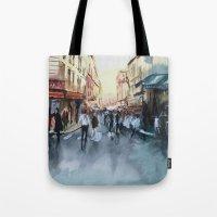 paris Tote Bags featuring PARIS by Nicolas Jolly