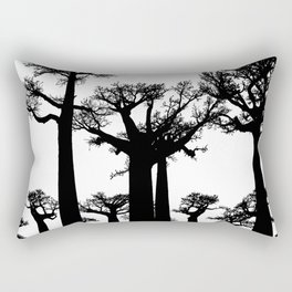 forest trees silhouette baobab Rectangular Pillow