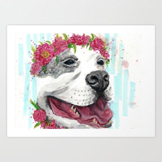 Puppy In Pink Art Print