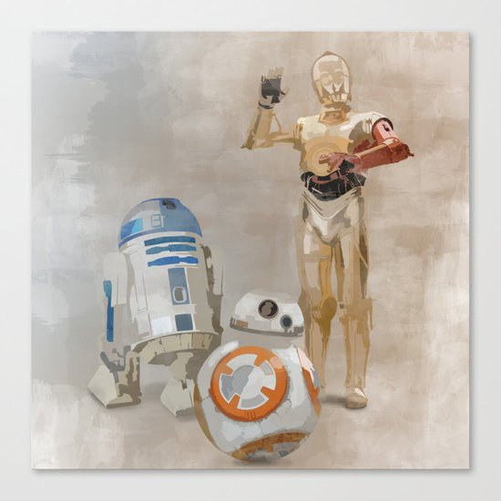 The Droids You're Looking For Canvas Print