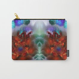 Beautiful abstract bright colorful bouquet of purple and red flower Carry-All Pouch
