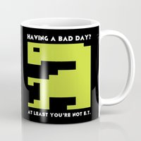 video games Mugs featuring Worst Video Game Ever by Silvio Ledbetter