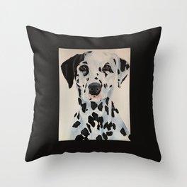 black white Dalmatian Throw Pillow