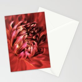 Red Dahlia Passion Stationery Cards