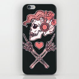 Pink Peace, Love and Music iPhone Skin
