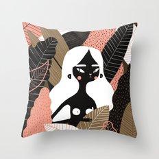 Tropicalona Throw Pillow