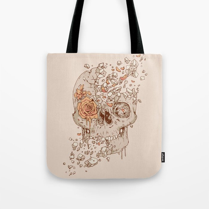 Disintegrate (A Violent Decay):  The Fragile Intensity of Existence Tote Bag
