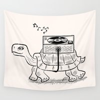 tortoise Wall Tapestries featuring Tortoise Wax by Oliver Lake