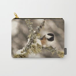 Chickadee and Old Man's Beard - Algonquin Park Carry-All Pouch