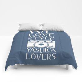 """We Love Analog"" Comforters"