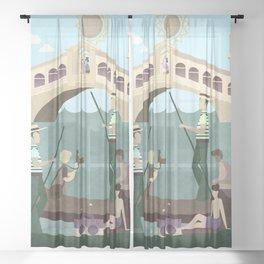 Venice Italy 10 Sheer Curtain